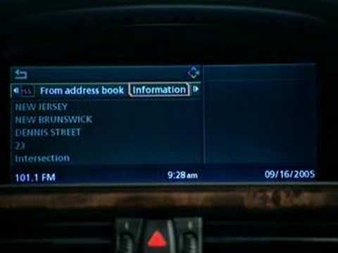 BMW 5 Series Onboard Navigation