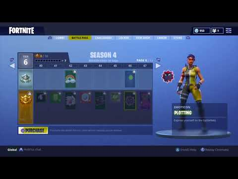 ALL SKINS AND ITEMS Season 4 Battle Pass 100 Tier Fortnite Battle Royale