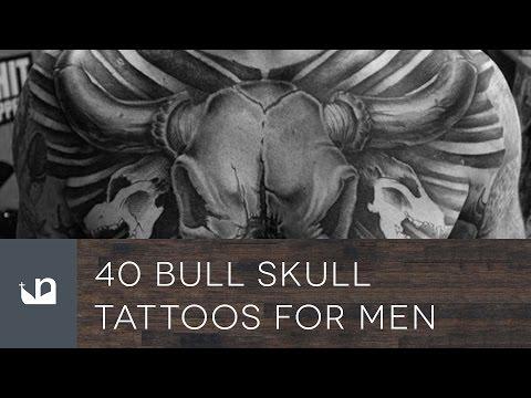 40 Bull Skull Tattoos For Men