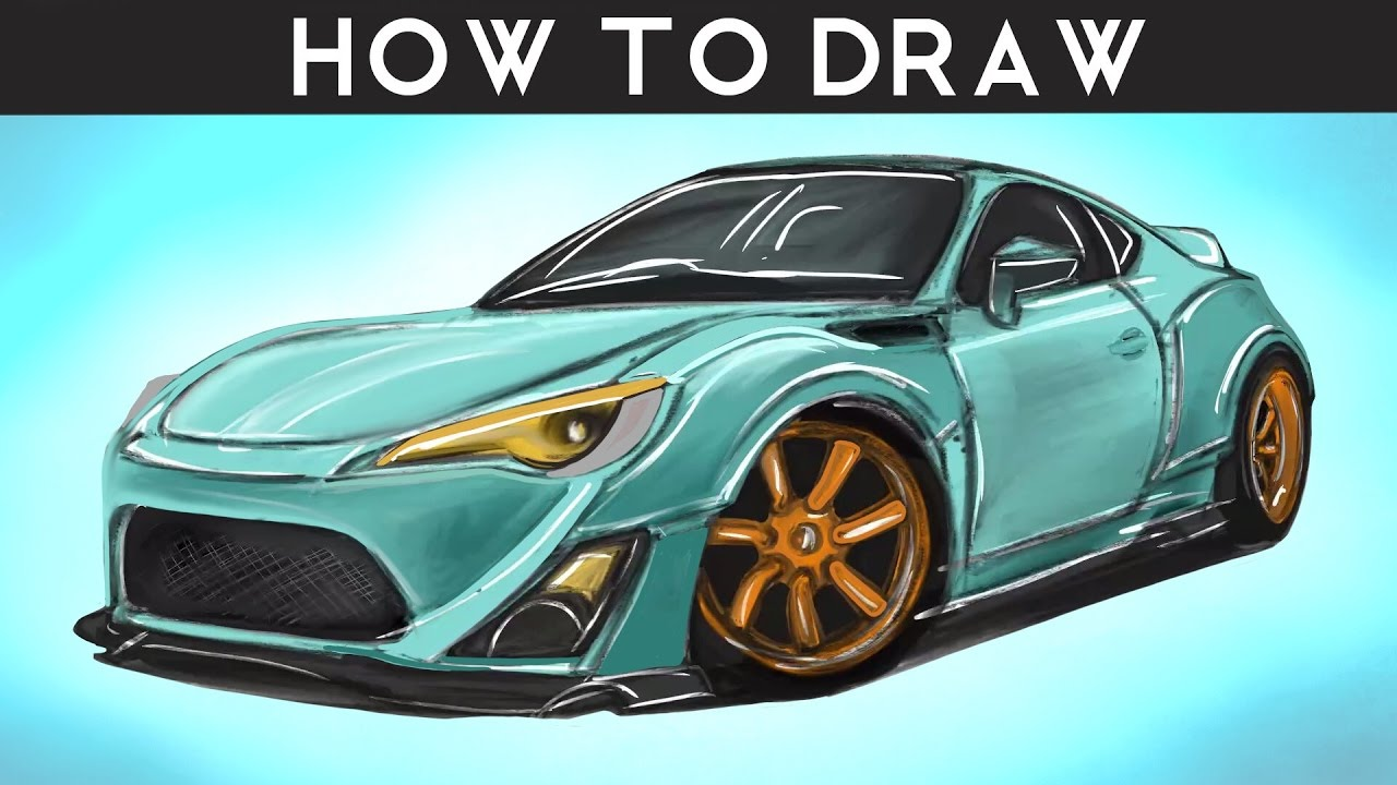 how to draw a toyota gt86 rocket bunny step by step