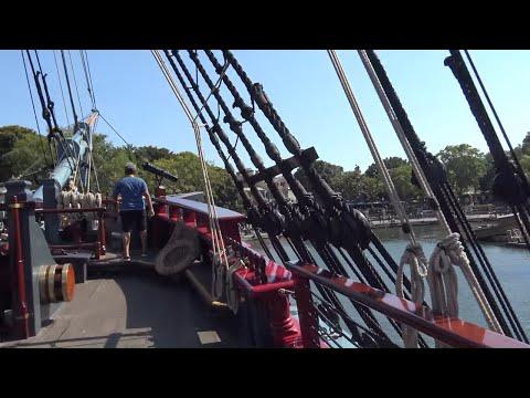4K Sailing Ship Columbia - Disneyland POV