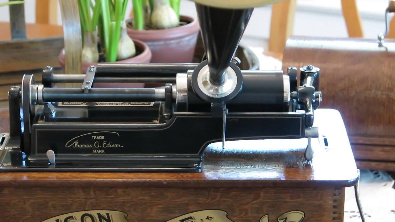 Edison home phonograph model b youtube for Edison home show