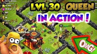 Clash Of Clans | LVL 30 QUEEN IN ACTION LIVE! | HOW GOOD IS SHE REALLY? |