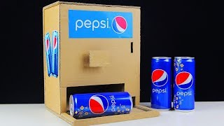 How to make PEPSI VENDING MACHINE from Cardboard