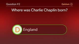 Charlie Chaplin Quiz   When was Charlie Chaplin awarded a Doctor of Letters degree? and more questio