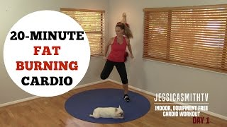 20 Minute Fat Burning Cardio Workout  No Equipment Needed for All Levels!