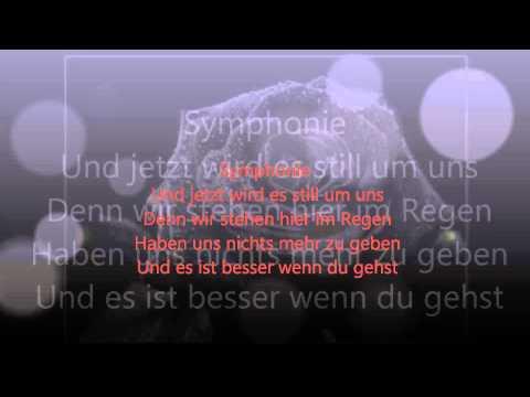 Symphonie Silbermond - Lyrics