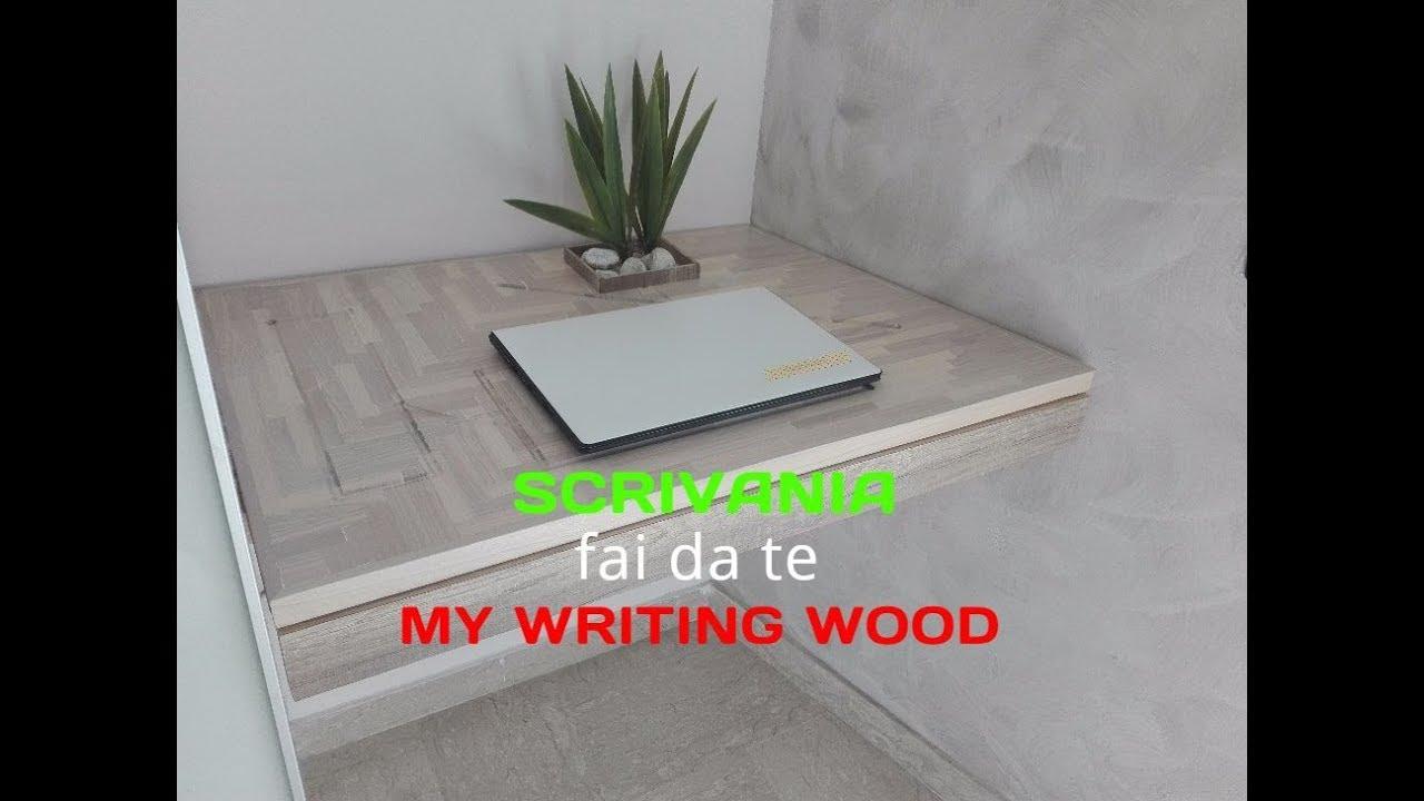 Ikea Scrittoio Con Ribaltina fai da te - come costruire una scrivania sospesa riciclando