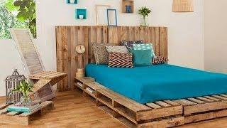 Como fazer uma cama com paletes