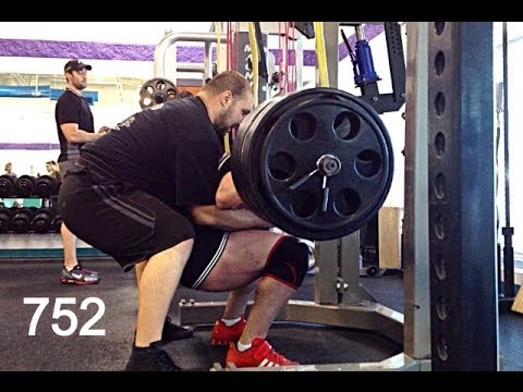 up to 752lb squats. some Posing