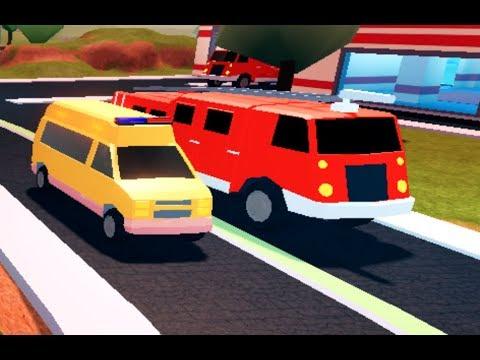 Ambulance Vs Fire Truck Race Roblox Jailbreak Youtube