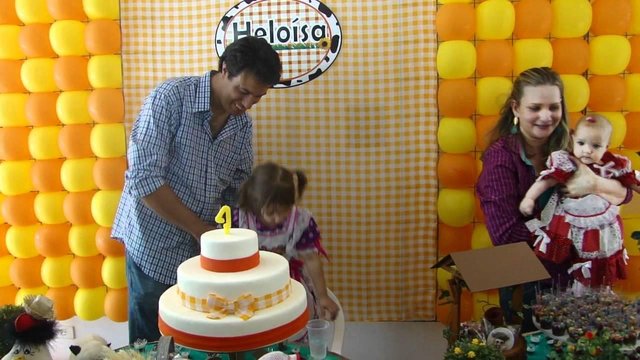 Decoraç u00e3o de Festa Junina Aniversário de 4 anos da Heloísa 17 06 12 YouTube -> Decoração Tnt Festa Junina