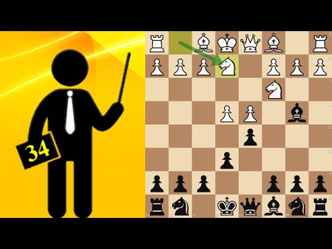 Standard chess game #34 - French Defense, Winawer variation
