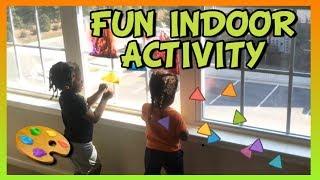Seneca & Savez does a Fun Indoor Activity For Kids| KIDS RULE TV