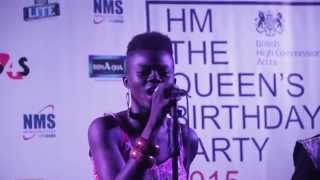 Wiyaala sings Ghanaian & British National Anthems