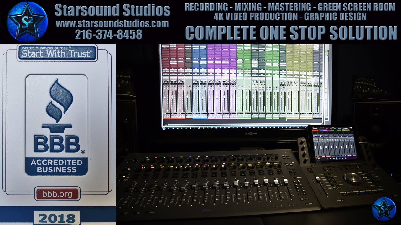 Best Recording Studio Video Walkthrough Tour Starsound Studios
