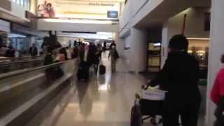 Riding An Electric Cart Through Newark Airport