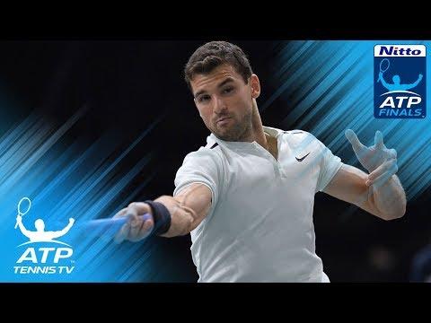 Grigor Dimitrov sensational shots vs Thiem   Nitto ATP Finals 2017