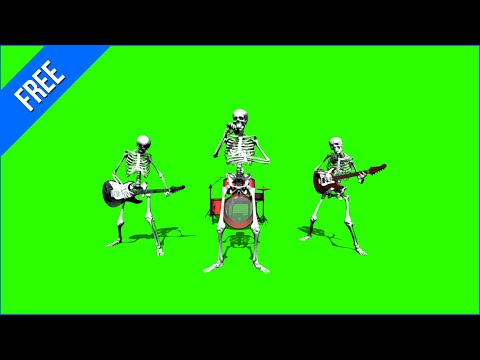 Band of Skeletons #1 - Green Screen Animation