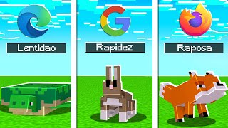 INTERNET REPRESENTADA NO MINECRAFT