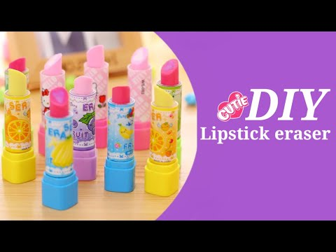 How to make cute lipstick eraser at home / Diy lipstick eraser/ lipistic eraser /Homemade  #shorts