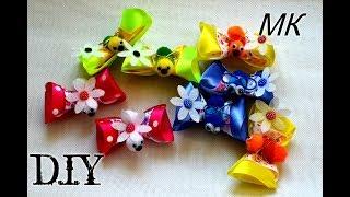 Прикольные бабочки из атласных лент/Satin Butterfly/Tutorial/D.I.Y