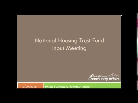 National Housing Trust Fund Input Meeting Webinar