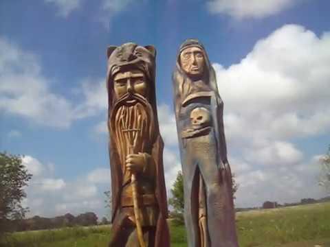 Скульптуры богов древних славян