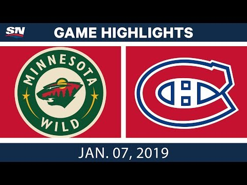 NHL Highlights | Wild vs. Canadiens - Jan. 7, 2019