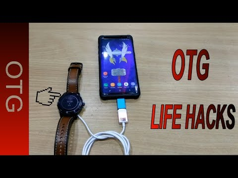 5 cool Uses of OTG Connector - Galaxy S8 | Life Hacks 🔥