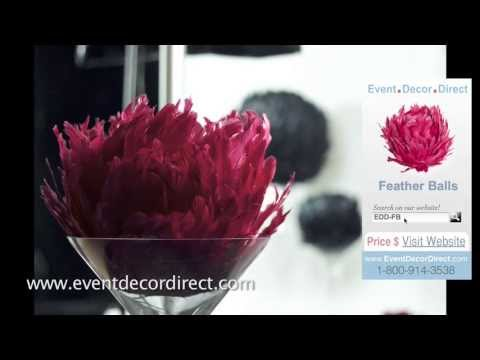 Event Decor Direct Tv Elegant Feather Balls For Wedding And Event