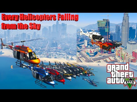 GTA V: Every Helicopters Falling from the Sky Best Extreme Longer Crash and Fail Compilation  