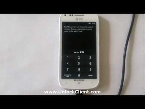Samsung I667 Focus 2 instant permanent unlock by usb cable