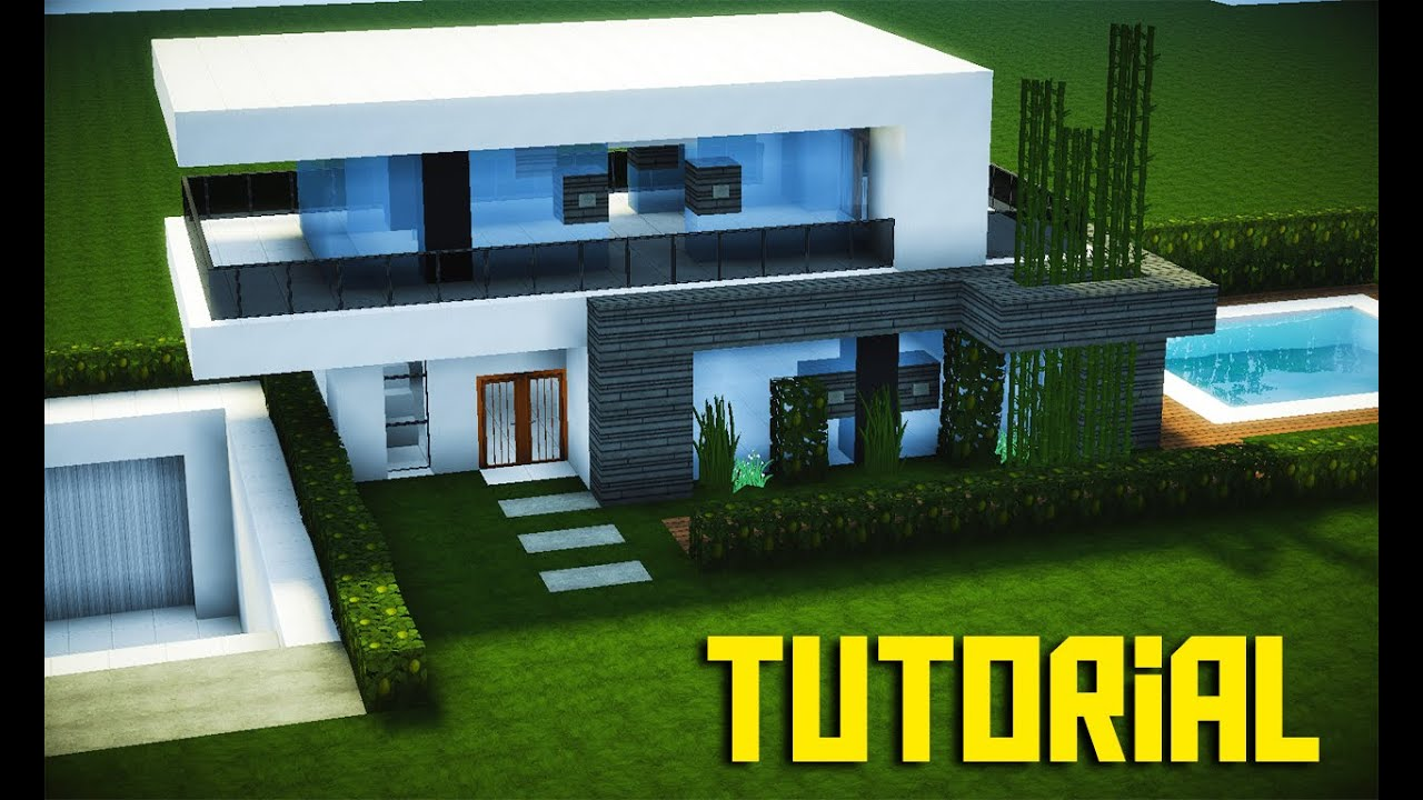 Minecraft tutorial pequena casa moderna 201 youtube for Casas modernas no minecraft