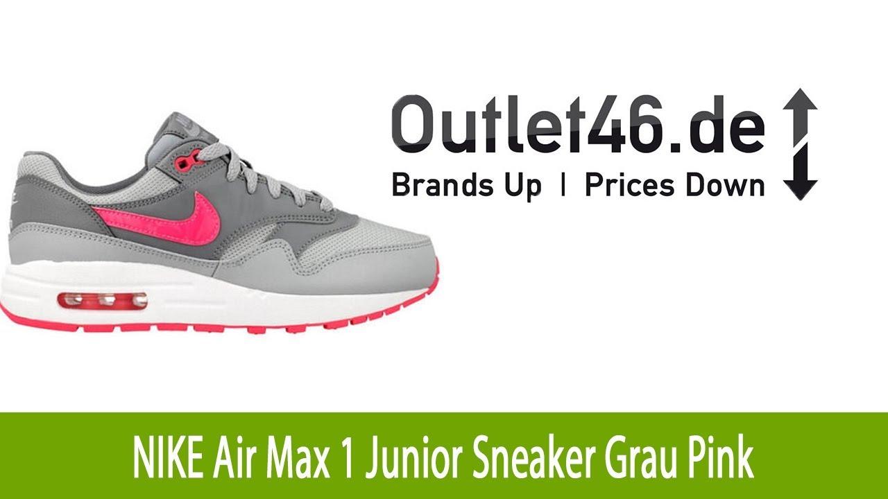 ecd2630dd26c2 ... czech lässiger nike air max 1 junior schuh sneaker grau pink l  outlet46.de 9b5f0
