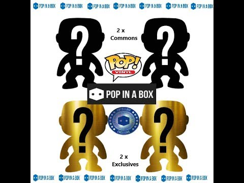 POP IN A BOX Mystery Funko Pop Box - 2 Common Pops +  2 Limited Edition Pops - UK -  PIAB