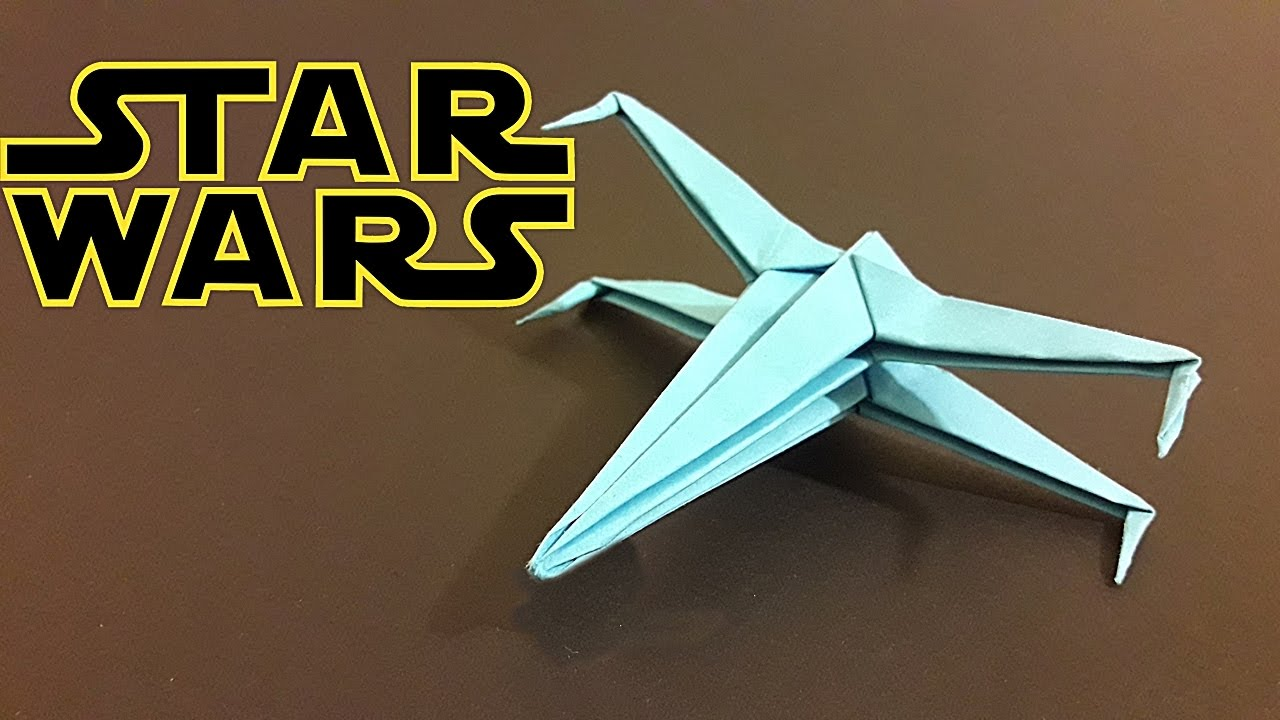origami star wars xwing how to make youtube
