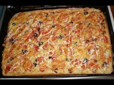 Тесто на майонезе для пиццы