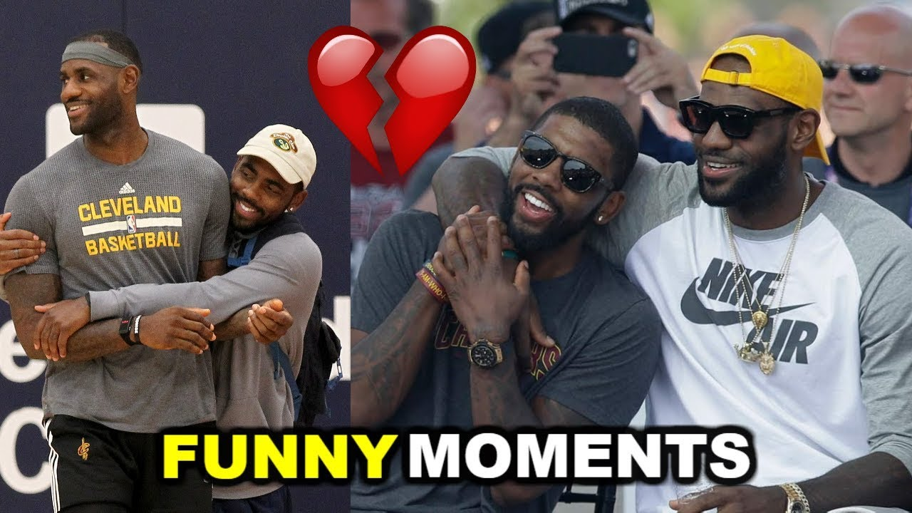 55ef2b046400 Kyrie Irving and LeBron James FUNNY MOMENTS 2017 (BEEF) - YouTube