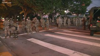 Georgia National Guard stands ready in downtown Atlanta ahead of curfew