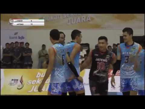Semi Final Voli Putra PON JABAR 2016 JABAR VS JATENG