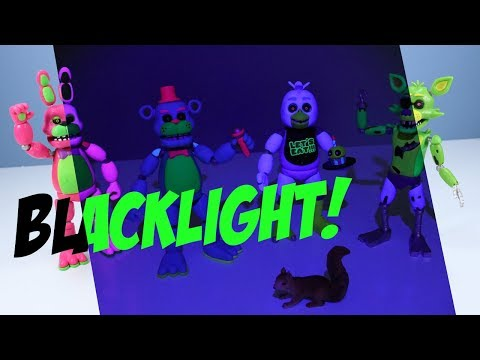Five Nights at Freddy's Blacklight Action Figures Funko Toy Review thumbnail