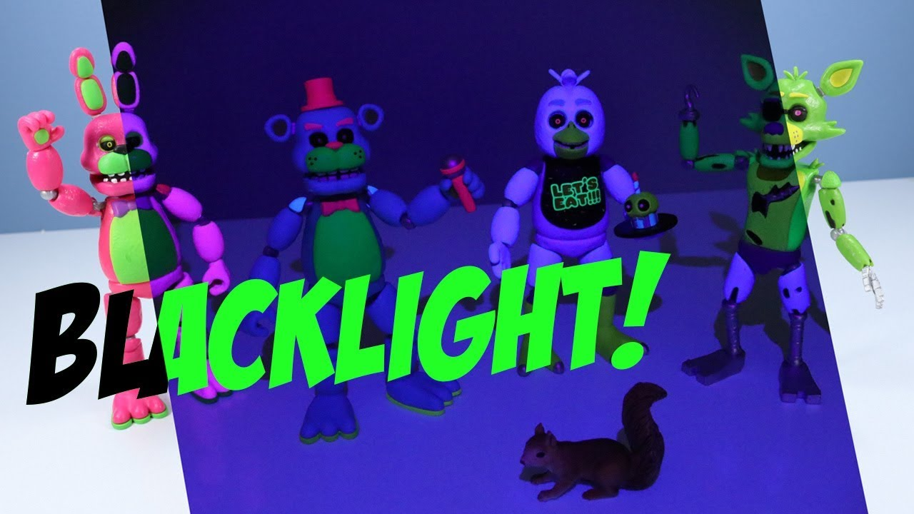 Cinq Nights at Freddy/'s Blacklight Set Figure Freddy Chica Foxy McFarlane Toys