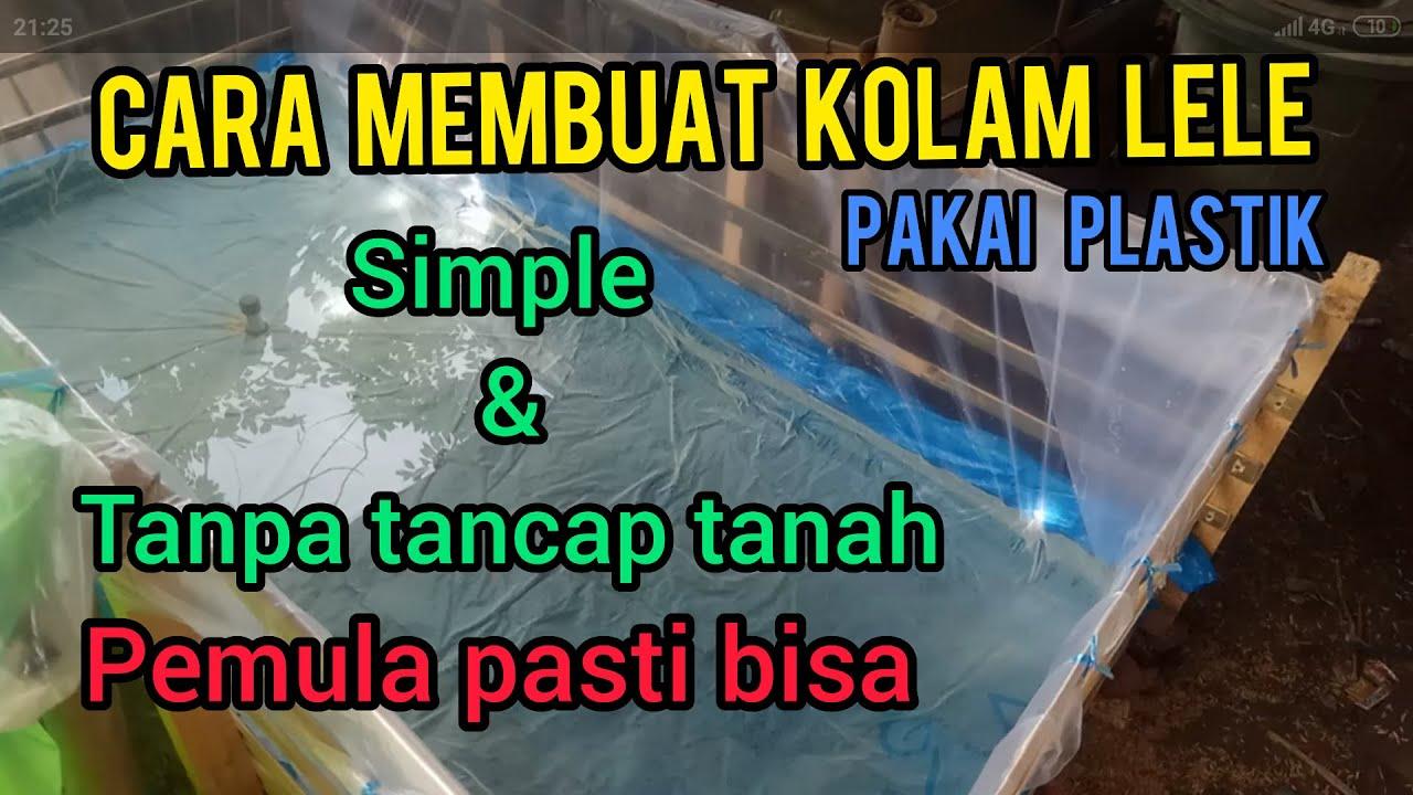TERNAK LELE #CARA MEMBUAT KOLAM LELE SIMPLE & TANPA TANCAP ...