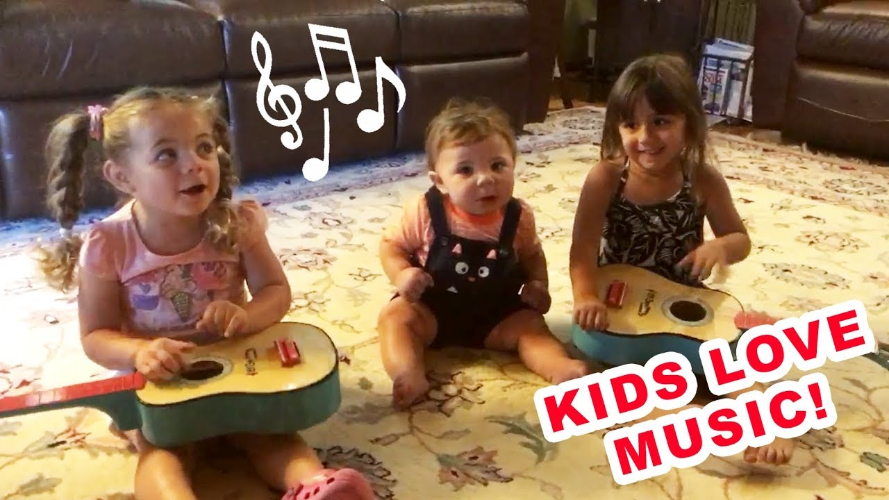 Kids love music! Lovely baby