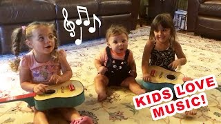 "Kids love music! Lovely baby ""musicians"" funny compilation"