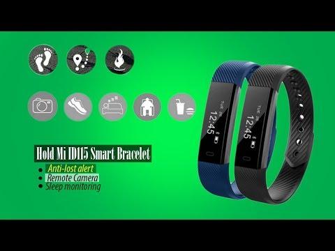 HoldMi ID115 Smart Bracelet Review | Fitness Tracker Activity Monitor  Vibration Wristband!