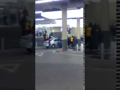UBER vs TAXI violence at mall of Africa johannesburg south africa