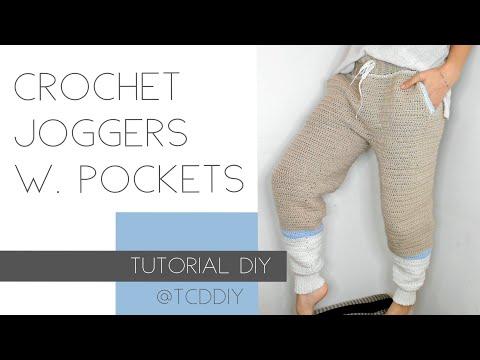 Crochet Joggers With Pockets | Tutorials DIY