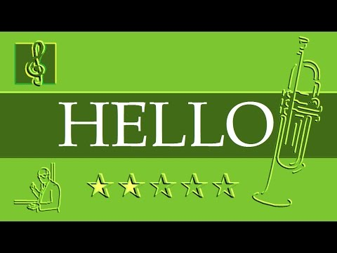 Trumpet Notes Tutorial - Adele - Hello (Sheet music)